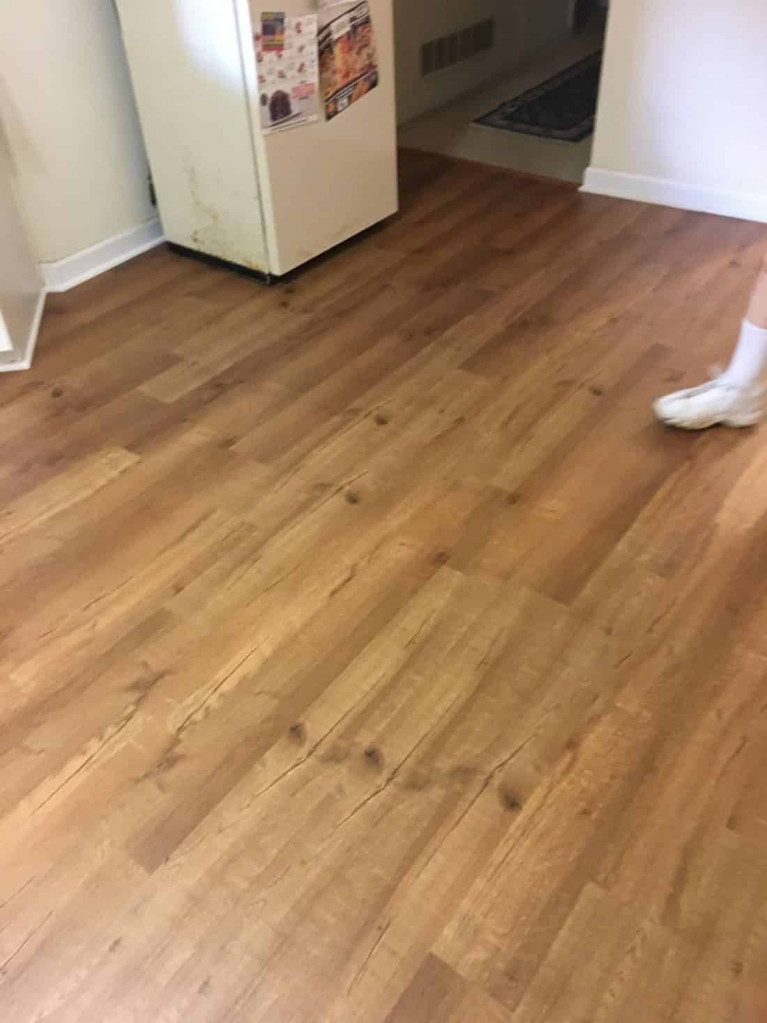 Luxury Vinyl Plank Lvp Installed In The Foyer This Color Is Called American Ginger