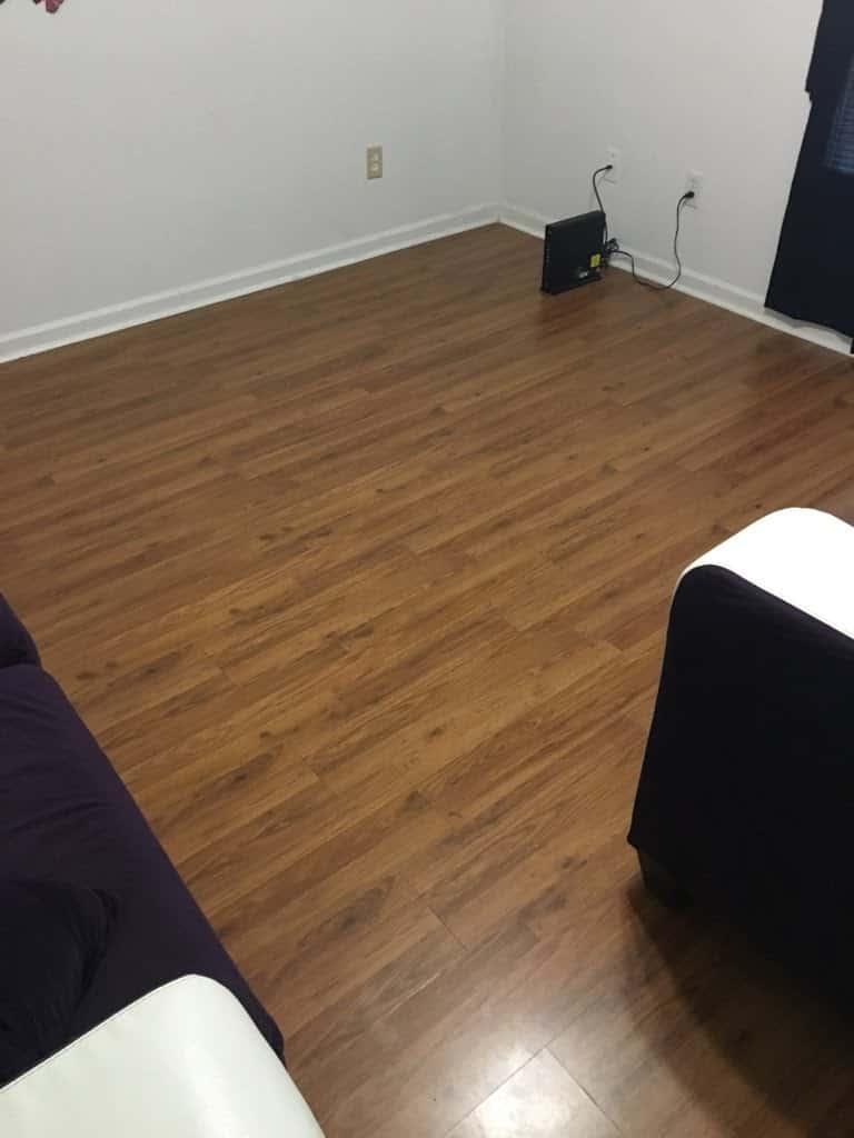 Before Water Damaged Laminate Flooring In Bedroom